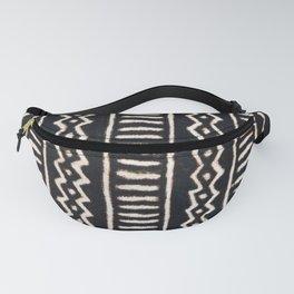 African Vintage Mali Mud Cloth Print Fanny Pack