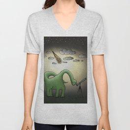 Dino Astronomer Unisex V-Neck