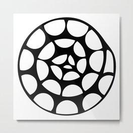 Sacred Spiral Transformation Metal Print