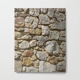 Old Mill Rock Wall Texture Metal Print