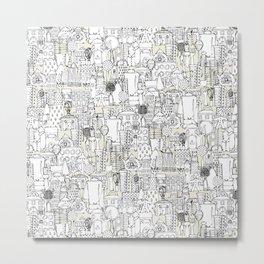 kitchen town ivory Metal Print