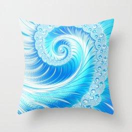 Frozen Vortex Throw Pillow