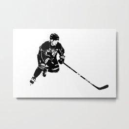 Born for Hockey - Hockey Player Metal Print
