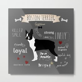 Boston Terrier Metal Print