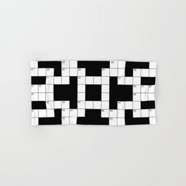 Cool Crossword Pattern Hand & Bath Towel