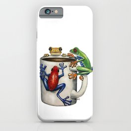 """""""Coffee Frogs"""" - Java Jungle collection iPhone Case"""