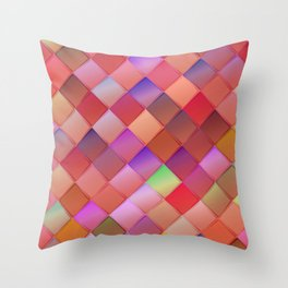 Pattern with pink squares.Trendy hipster print. Modern graphic design. Throw Pillow