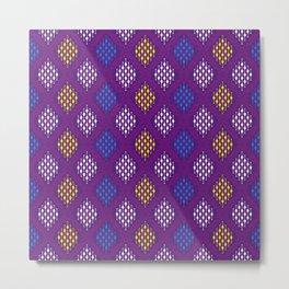 Ethno buginese sabbe pattern Metal Print