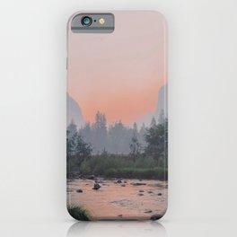 Yosemite Valley Sunrise Pretty Pink iPhone Case