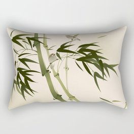 Oriental style painting, bamboo branches Rectangular Pillow