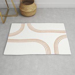 Mid Century Modern 1 - Geometrical Abstract - Minimal Print - Terracotta Abstract - Burnt Sienna Rug