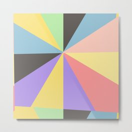 pattern with multicolor shapes for design Metal Print