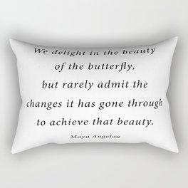 delight in the beauty of the butterfly Rectangular Pillow