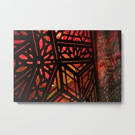 Abstract Red Light Exhibit Metal Print