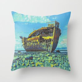 Shipwreck II Throw Pillow