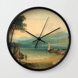"J.M.W. Turner ""Lake Geneva and Mount Blanc"" Wall Clock"