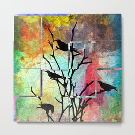 The Crows Metal Print