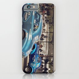 Blue Vintage Willys Gasser Hot Rods Drag Racing iPhone Case