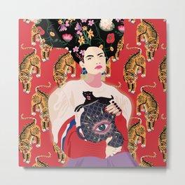 Let your mind blossom - Fashion portrait Metal Print