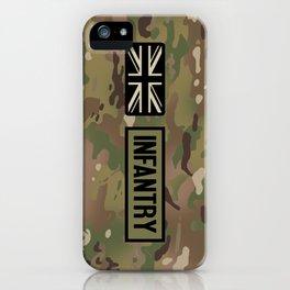 British Flag: Infantry (Camo) iPhone Case
