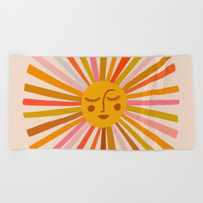 Sunshine – Retro Ochre Palette Beach Towel