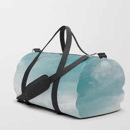 Teal Sky Forest Mountain Duffle Bag