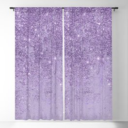 Modern elegant lavender lilac glitter marble Blackout Curtain