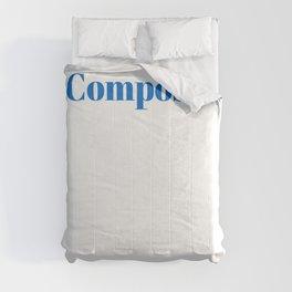 Composer Ninja in Action Comforters