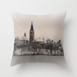 Bled Island Winter Throw Pillow