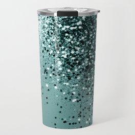 Teal Mermaid Ocean Glitter #1 #shiny #decor #art #society6 Travel Mug