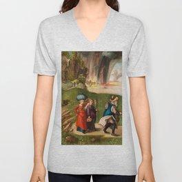 "Albrecht Dürer ""Lot and His Daughters"" Unisex V-Neck"