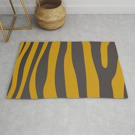 Design tiger Wild lines ethnic chocos Rug