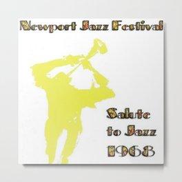 1968 Newport Jazz Festival Vintage Advertisement Poster Newport, Rhode Island Metal Print