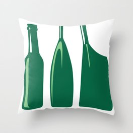 Rowing Oars Evolution in green Throw Pillow