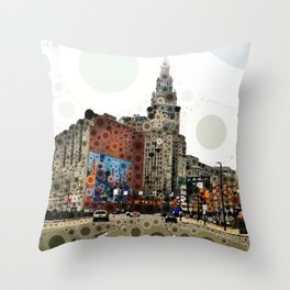 Downtown Cleveland Throw Pillow