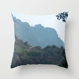 Inside Rock Canyon Hiking the Trail Vista View Mountain Nature Photography Throw Pillow