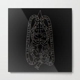 Old Swedish viking runestone Metal Print