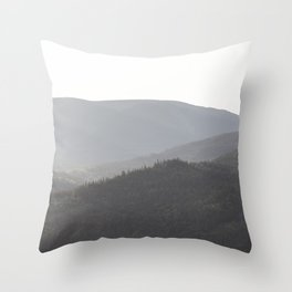 Sunrise with the mountains Throw Pillow