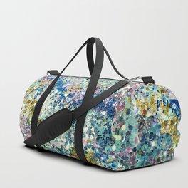 Glittery Ocean Waves Duffle Bag