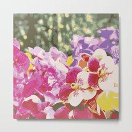 Springtime Blooms Garden Metal Print