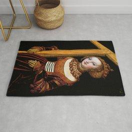 """Lucas Cranach the Elder """"Saint Helena with the Cross"""" Rug"""