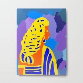 Девушка с косой Metal Print