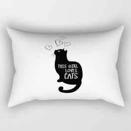 This Girl loves cats Rectangular Pillow