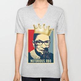 Notorious RBG - Ruth Bader Ginsburg Unisex V-Neck