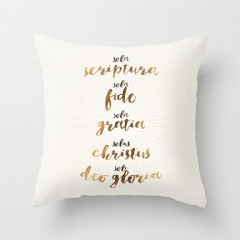 The Five Solas of the Reformation Throw Pillow