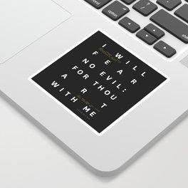 Psalm 23:4 Typography Quote Sticker
