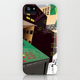 mazes of cities iPhone Case