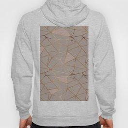 Geometrical mauve pink faux gold blush chic pattern Hoody