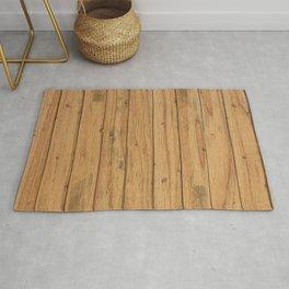 Rustic Wood Panel Pattern Rug