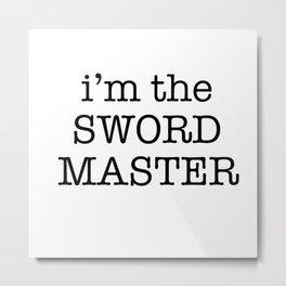 sword master Metal Print